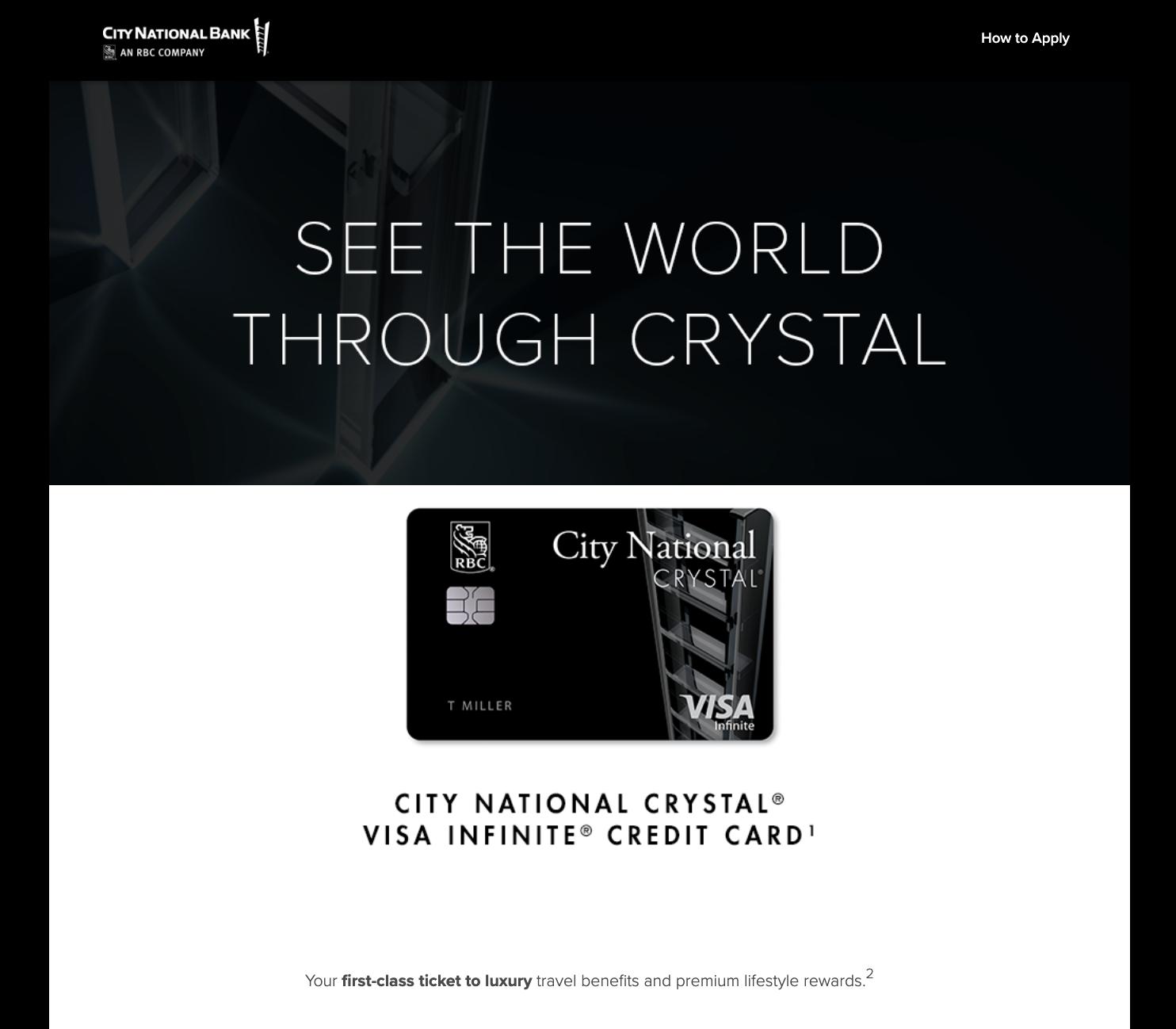 Crystal Visa Infinite: Credit Card Launch